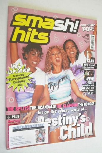 <!--2001-04-04-->Smash Hits magazine - Destiny's Child cover (4 April 2001)