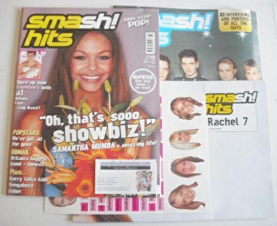 <!--2001-02-07-->Smash Hits magazine - Samantha Mumba cover (7 February 200