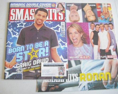 <!--2000-07-26-->Smash Hits magazine - Craig David cover (26 July 2000)