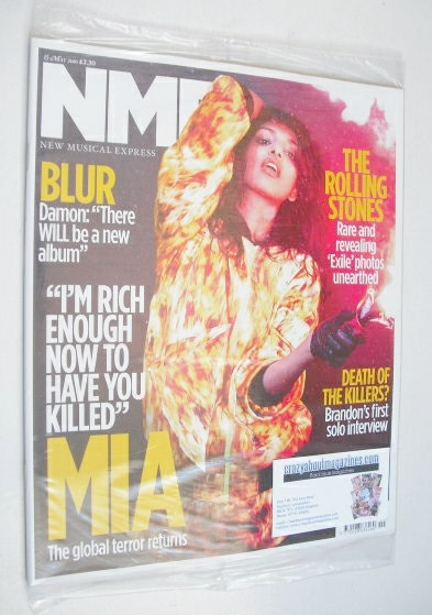 <!--2010-05-15-->NME magazine - MIA cover (15 May 2010)