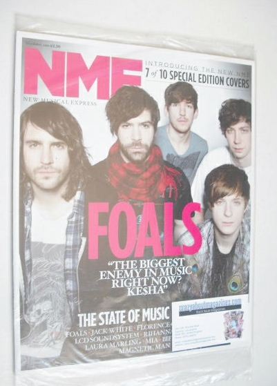 <!--2010-04-10-->NME magazine - Foals cover (10 April 2010)