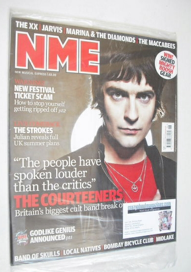 <!--2010-02-13-->NME magazine - The Courteeners cover (13 February 2010)