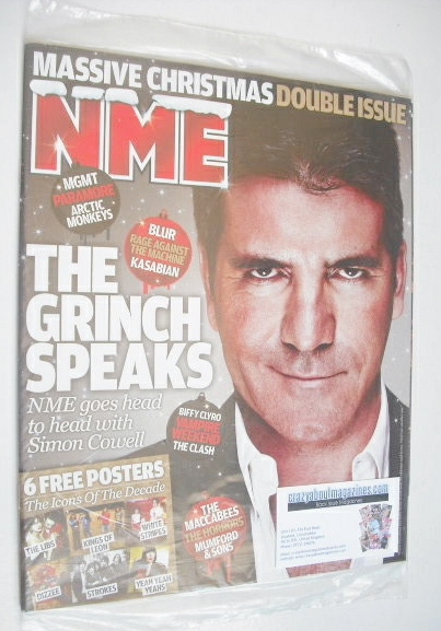 <!--2009-12-19-->NME magazine - Simon Cowell cover (19-25 December 2009)