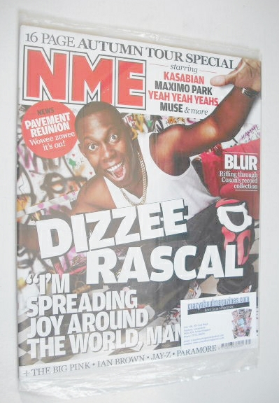 <!--2009-09-26-->NME magazine - Dizzee Rascal cover (26 September 2009)
