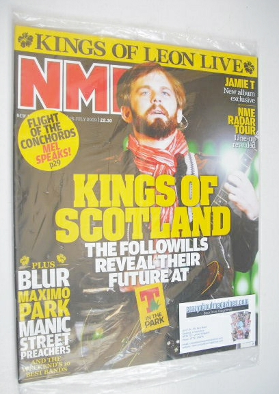 <!--2009-07-18-->NME magazine - Kings Of Leon cover (18 July 2009)