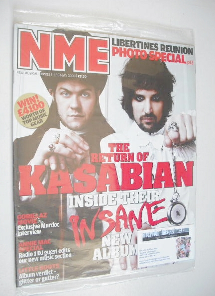 <!--2009-05-30-->NME magazine - Kasabian cover (30 May 2009)
