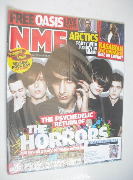 <!--2009-04-11-->NME magazine - The Horrors cover (11 April 2009)