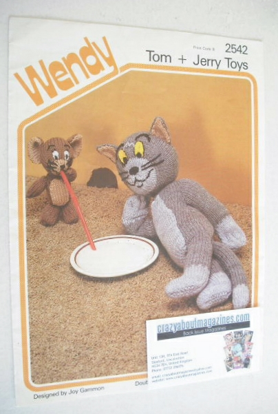 Tom and Jerry Toy Knitting Pattern (Wendy 2542)