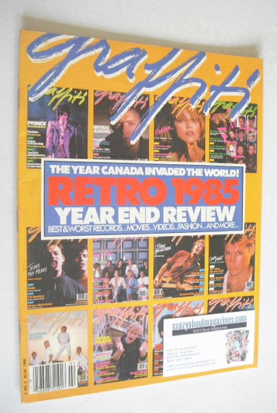Graffiti magazine - Retro 1985 Year End Review cover (Vol. 2 No. 2 - 1986)