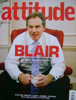<!--2005-04-->Attitude magazine - Tony Blair cover (April 2005)