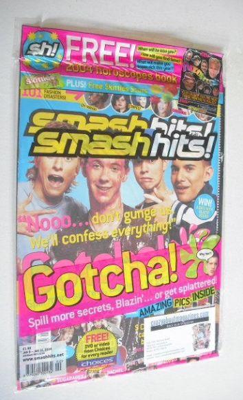 <!--2004-01-09-->Smash Hits magazine - Blazin' Squad cover (9-22 January 20