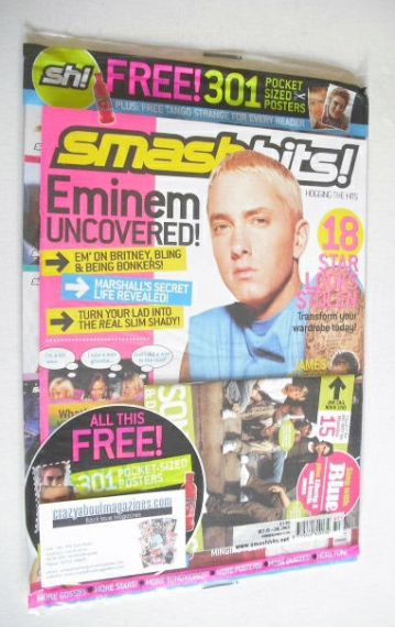 <!--2003-10-15-->Smash Hits magazine - Eminem cover (15-28 October 2003)
