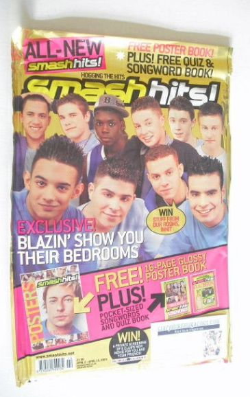 <!--2003-04-02-->Smash Hits magazine - Blazin' Squad cover (2-15 April 2003