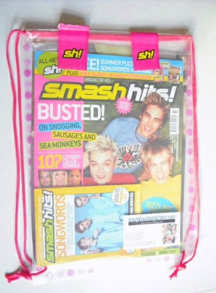 <!--2003-01-08-->Smash Hits magazine - Busted cover (6-19 August 2003)