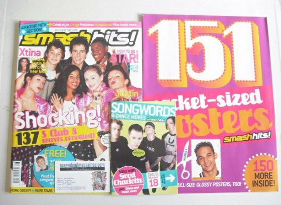 <!--2003-11-26-->Smash Hits magazine - S Club 8 Secrets cover (26 November
