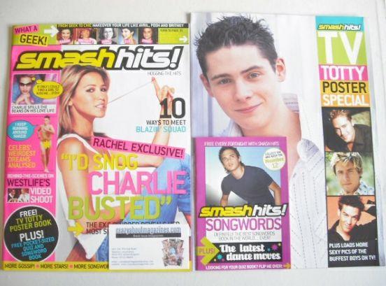 <!--2003-09-03-->Smash Hits magazine - Rachel Stevens cover (3-16 September