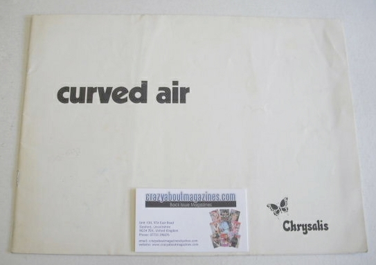 Curved Air brochure (1970s)