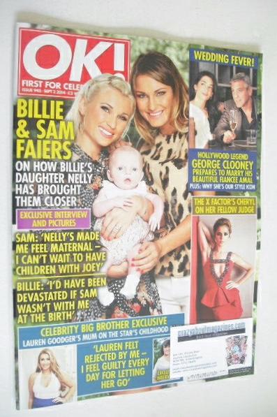 <!--2014-09-02-->OK! magazine - Billie and Sam Faiers cover (2 September 20