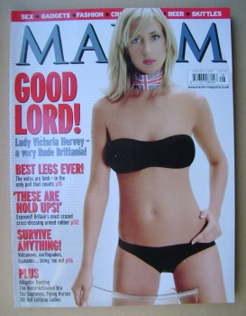 MAXIM magazine - Lady Victoria Hervey cover (August 2001)
