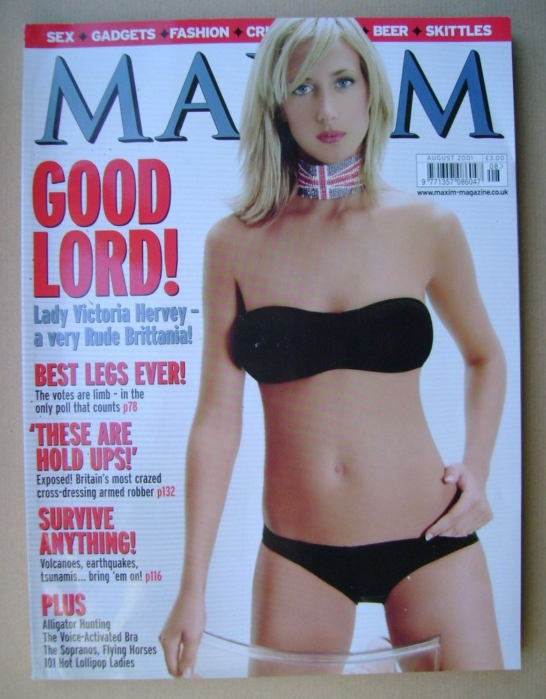 <!--2001-08-->MAXIM magazine - Lady Victoria Hervey cover (August 2001)