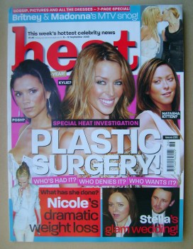 Heat magazine - Plastic Surgery! cover (6-12 September 2003 - Issue 235)