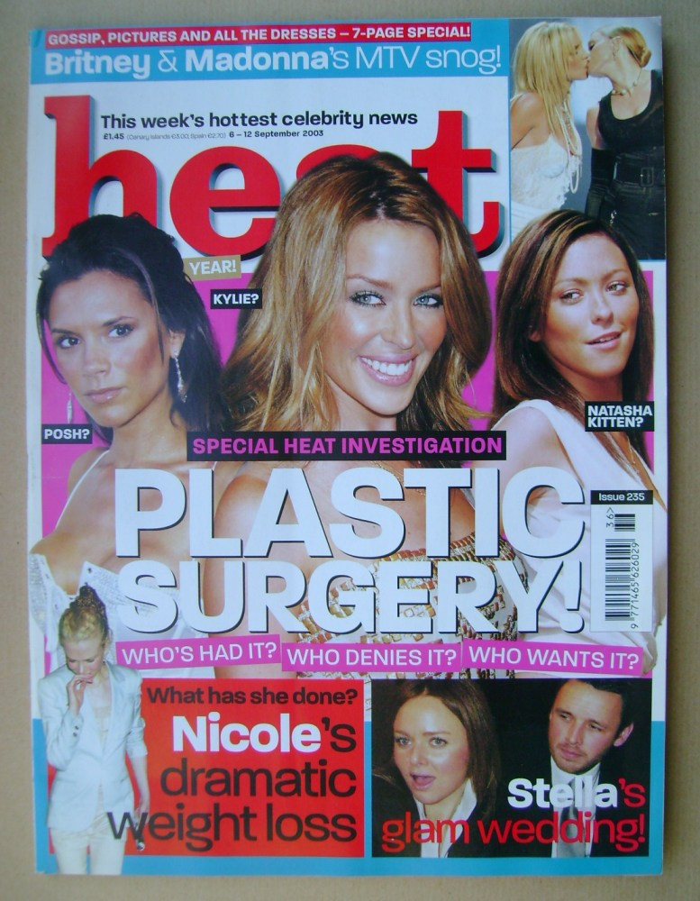 <!--2003-09-06-->Heat magazine - Plastic Surgery! cover (6-12 September 200