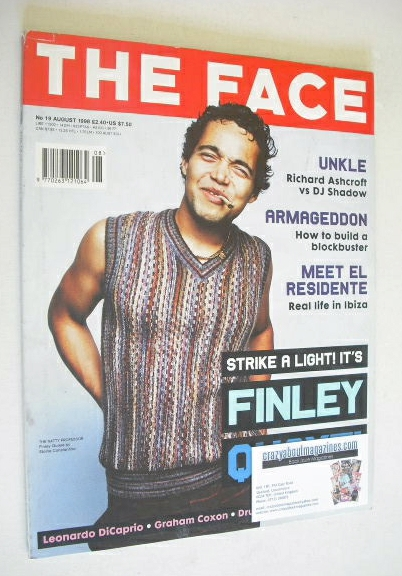 <!--1998-08-->The Face magazine - Finley Quaye cover (August 1998 - Volume