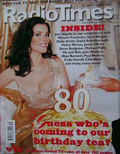 <!--2003-09-27-->Radio Times magazine - Nigella Lawson cover (27 September