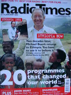 <!--2004-01-10-->Radio Times magazine - Michael Buerk cover (10-16 January