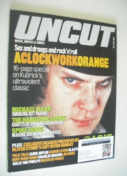 Uncut magazine - Malcolm McDowell cover (April 2000)