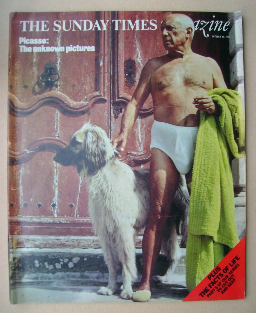 <!--1974-10-13-->The Sunday Times magazine - Pablo Picasso cover (13 Octobe
