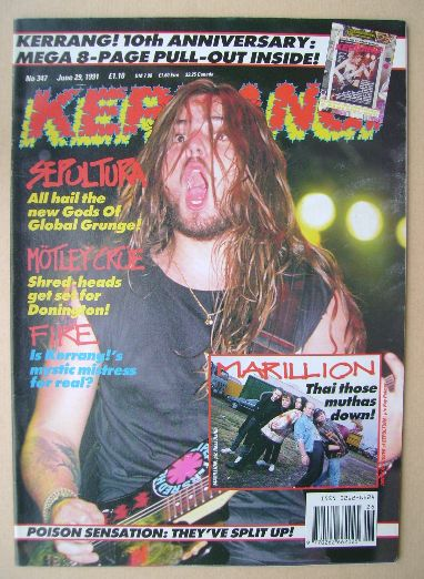 <!--1991-06-29-->Kerrang magazine - Andreas Kisser cover (29 June 1991 - Is