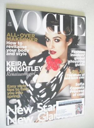 <!--2011-01-->British Vogue magazine - January 2011 - Keira Knightley cover