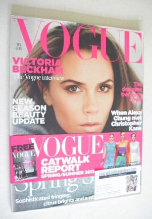 <!--2011-02-->British Vogue magazine - February 2011 - Victoria Beckham cov