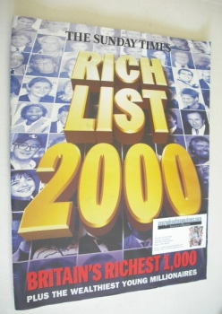 The Sunday Times Rich List 2000 magazine