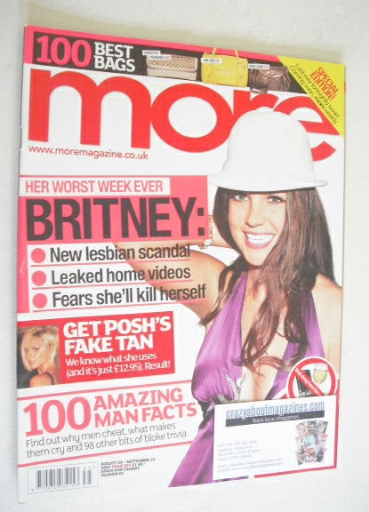 <!--2007-08-28-->More magazine - Britney Spears cover (28 August - 10 Septe