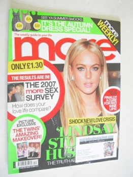 More magazine - Lindsay Lohan cover (8 October 2007)