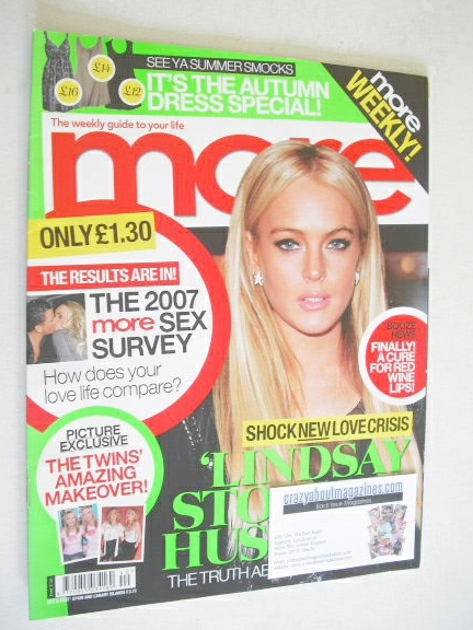 <!--2007-10-08-->More magazine - Lindsay Lohan cover (8 October 2007)