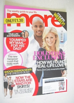 More magazine - Ricky Whittle and Carly Stenson cover (5 November 2007)