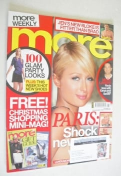 More magazine - Paris Hilton cover (3 December 2007)