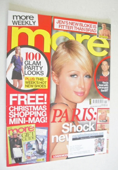 <!--2007-12-03-->More magazine - Paris Hilton cover (3 December 2007)