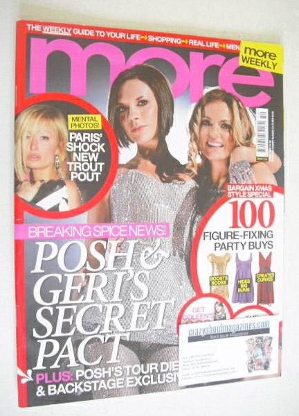 <!--2007-12-17-->More magazine - Victoria Beckham and Geri Halliwell cover