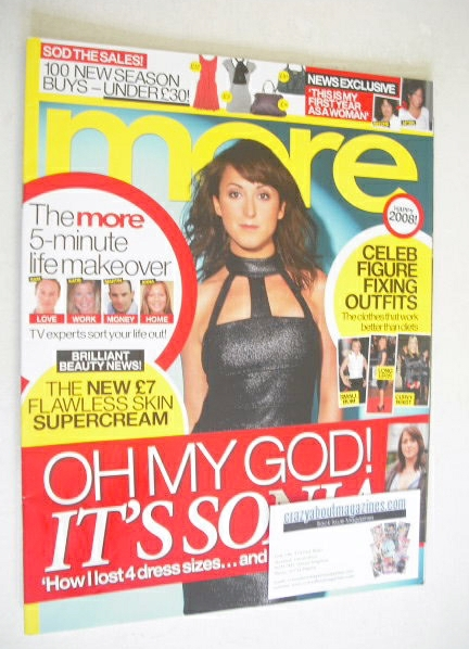 <!--2008-01-07-->More magazine - Natalie Cassidy cover (7 January 2008)