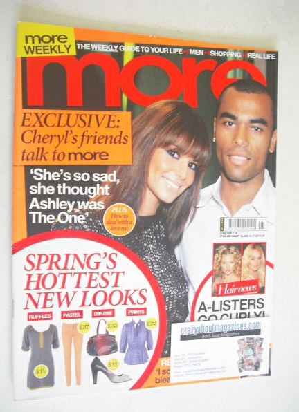 <!--2008-02-04-->More magazine - Cheryl Cole and Ashley Cole cover (4 Febru