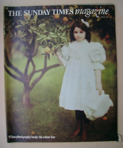 <!--1975-03-09-->The Sunday Times magazine - Peggy Warburg cover (9 March 1