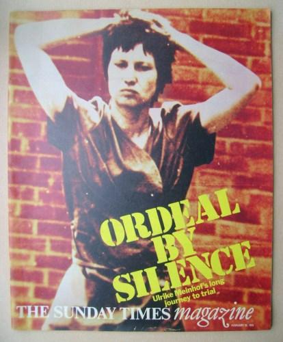 <!--1975-02-23-->The Sunday Times magazine - Ulrike Meinhof cover (23 Febru
