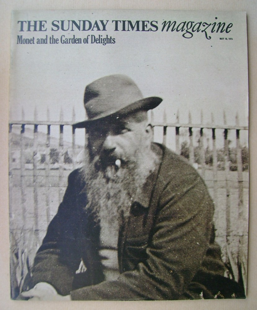 <!--1975-05-18-->The Sunday Times magazine - Claude Monet cover (18 May 197