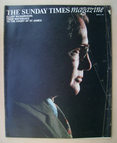 <!--1975-03-23-->The Sunday Times magazine - Elliot Richardson cover (23 Ma