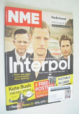 <!--2014-09-06-->NME magazine - Interpol cover (6 September 2014)
