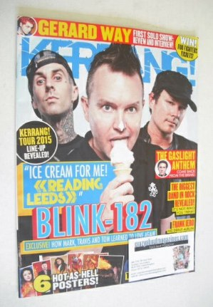 <!--2014-08-30-->Kerrang magazine - Blink-182 cover (30 August 2014 - Issue